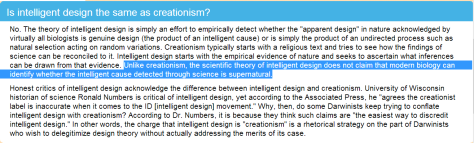 Does ID equal creationism