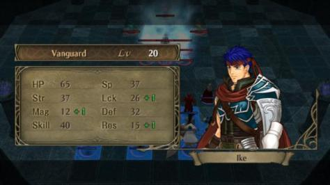 video game Ike stats