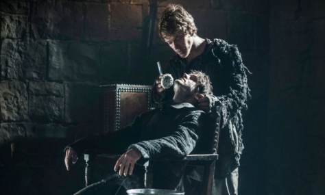 Theon shaving Ramsey